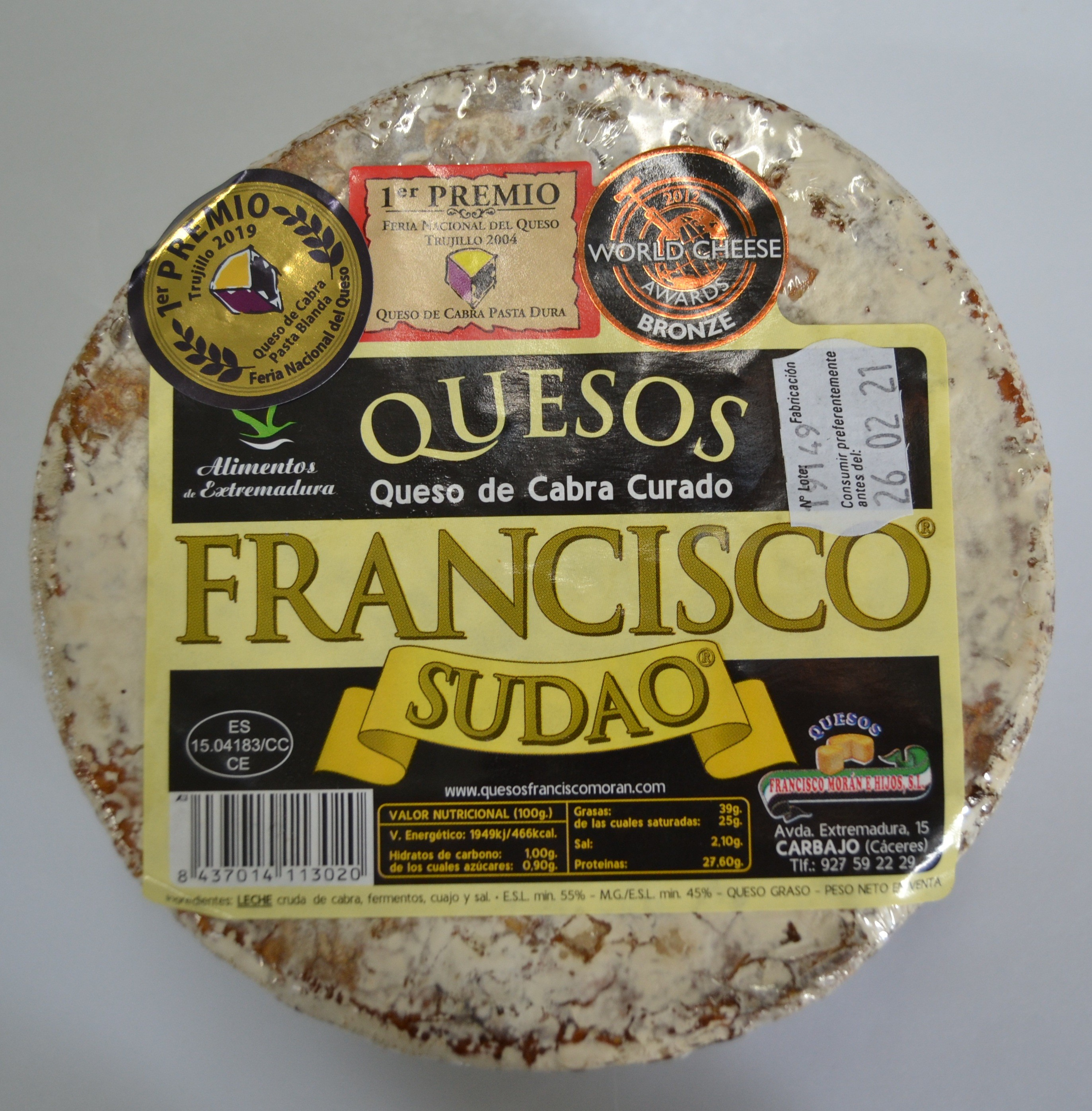QUESO DE CABRA FRANCISCO SUDAO