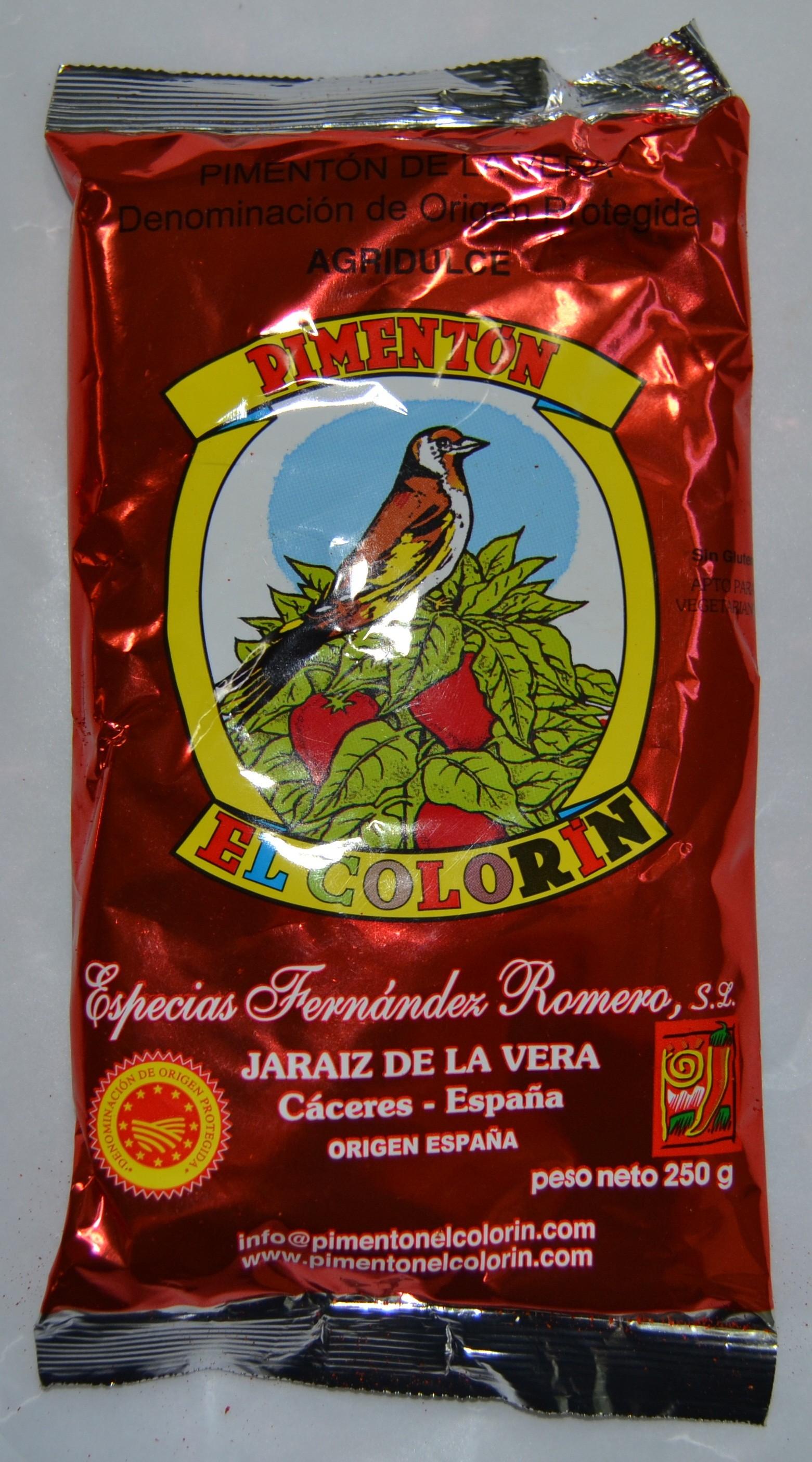 PIMENTÓN DE LA VERA AGRIDULCE 0,250 Kg