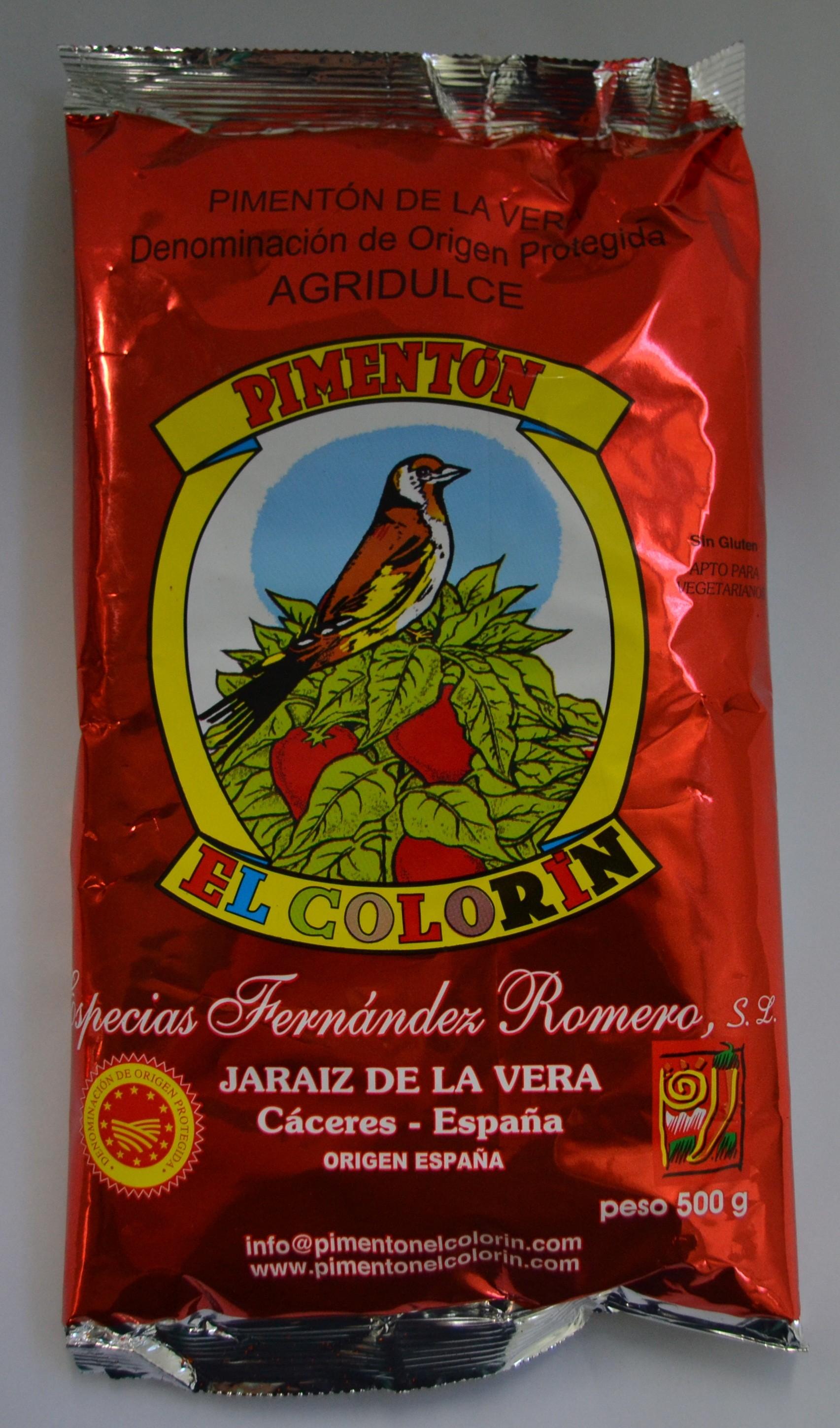 PIMENTÓN DE LA VERA AGRIDULCE 0,500 Kg