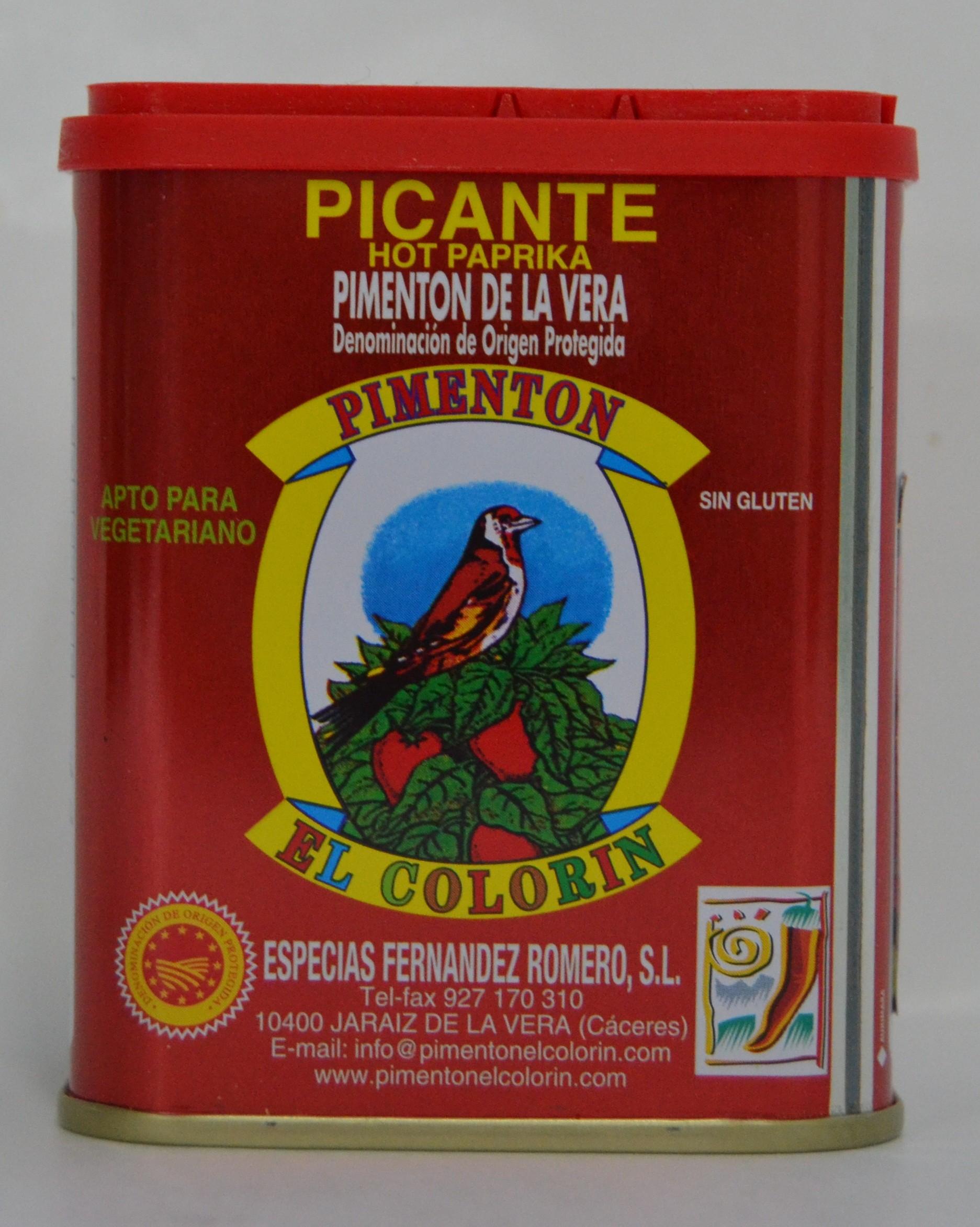 PIMENTÓN DE LA VERA PICANTE 0,125 Kg