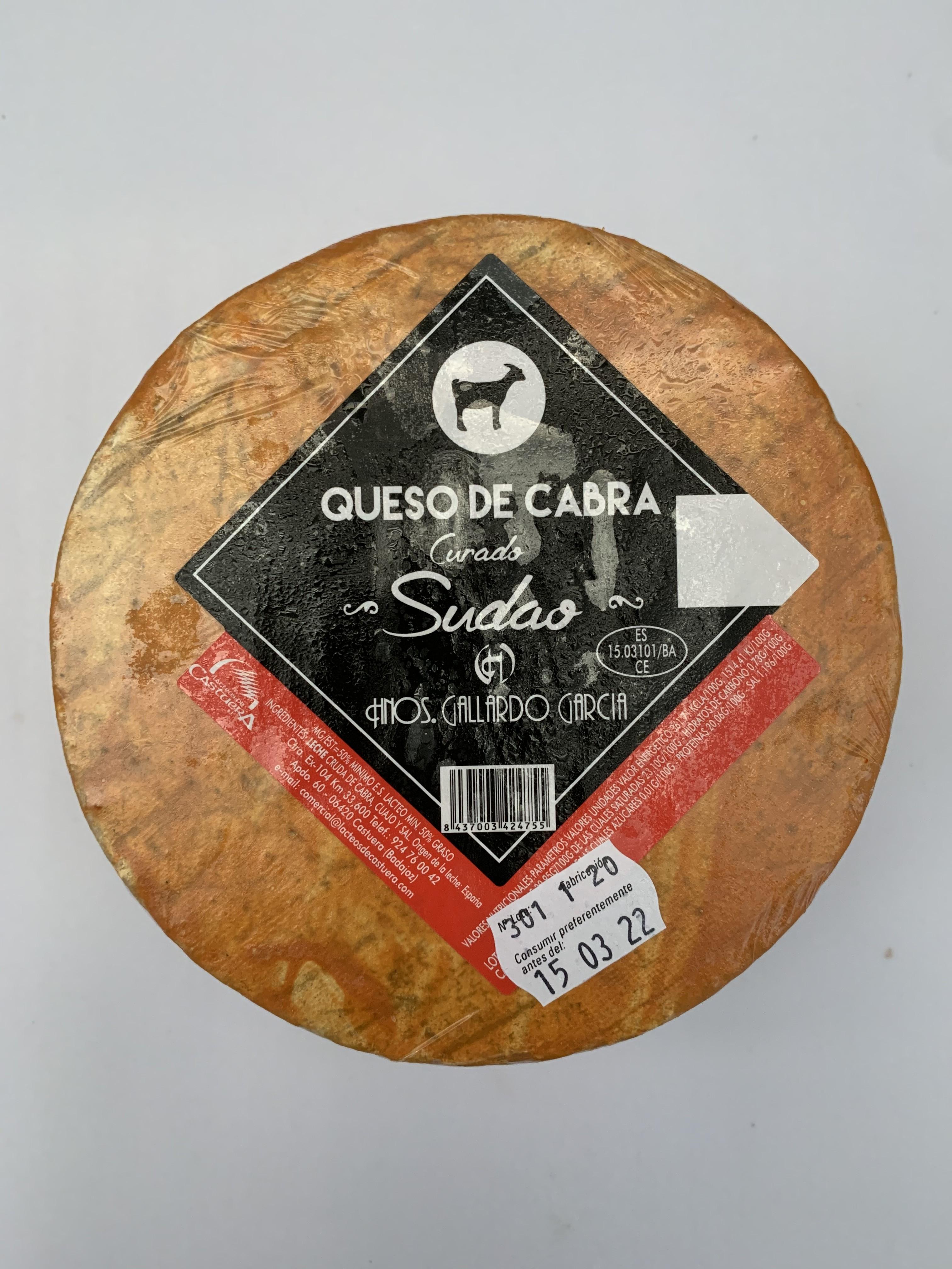 QUESO DE CABRA GALLARDO SUDAO